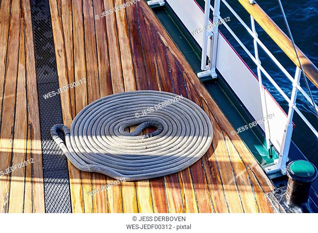 Steam boat Hohentwiel, rope