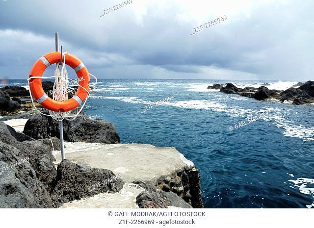 Lifesaver in Faial island, Azores, Portugal