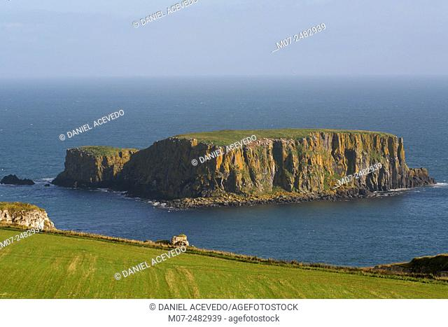 Ballintoy from Irish Baile an Tuaigh, meaning 'the northern townland' is a small village, in County Antrim, Northern Ireland