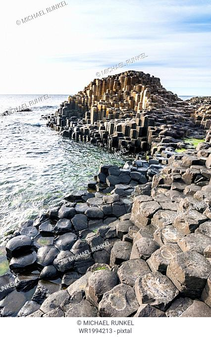 The Giants Causeway, UNESCO World Heritage Site, County Antrim, Ulster, Northern Ireland, United Kingdom, Europe