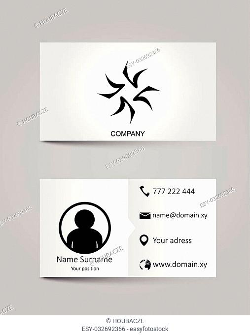 This is vector template business card