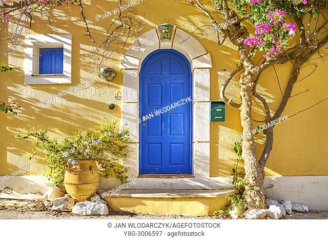 Greek house in Assos village, Kefalonia Island, Greece