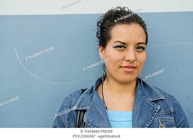 Mexico, Portrait Of Young Adult Woman; Aguascalientes