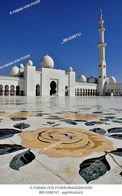 Sheikh Zayed Mosque, Abu Dhabi, United Arab Emirates, Arabian Peninsula, Asia