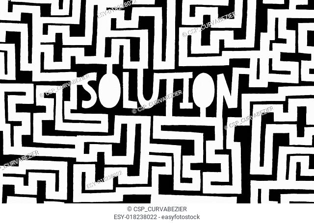 Complex maze to find a solution