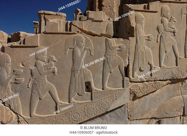 Persepolis, Persia, Iran, Islamic Republic of Iran, Central Asia, West Asia, Fars, Ernst Herzfeld, archaeological site, archaeology, Apadana Palace