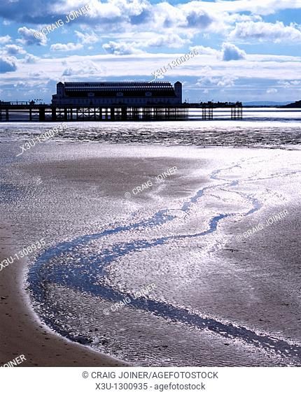 The old Grand Pier at Weston-super-Mare before it was destroyed by fire, North Somerset England