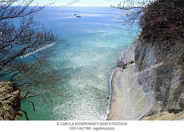 Europe, D, Germany, Mecklenburg-Western Pomerania, Rügen, Baltic Sea, Jasmund, chalk cliff