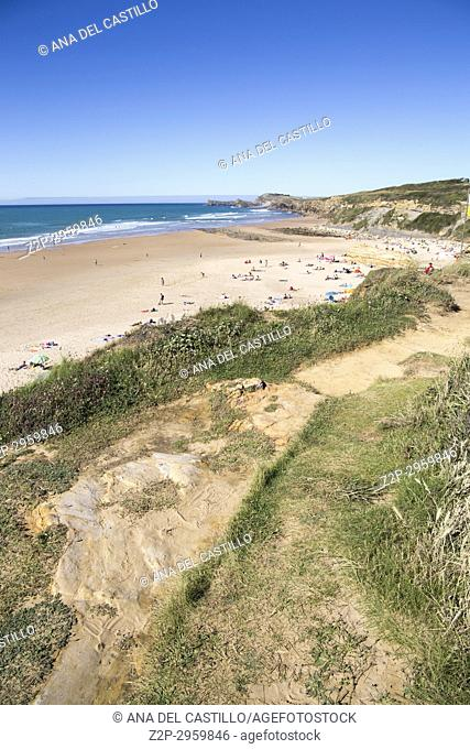 Liencres beach and dunes in Cantabria, Spain
