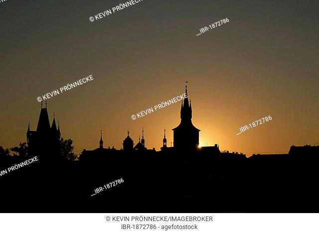 Sunrise over Prague, Czech Republic, Europe