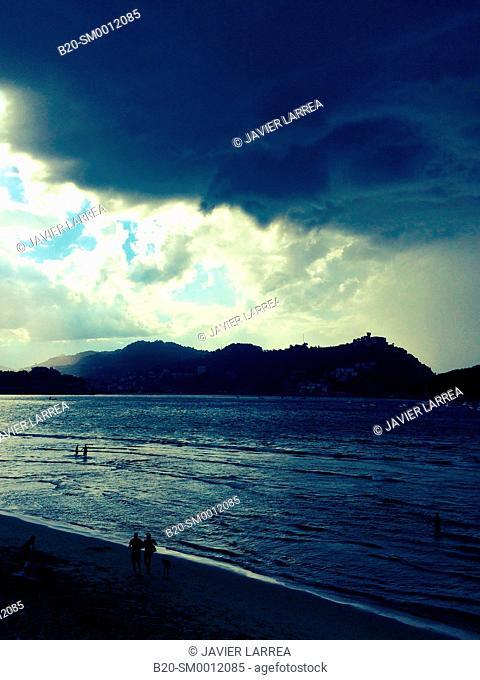 La Concha Beach. Donostia. San Sebastian. Gipuzkoa. Basque Country. Spain