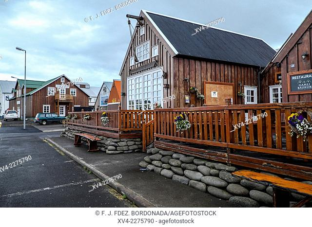 Husavik buildings. Iceland