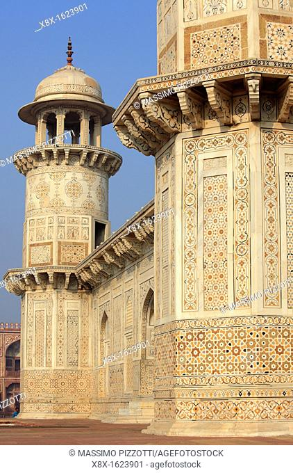 Itmad-Ud-Daulah's Tomb, also known as Baby Taj Mahal, Agra, India