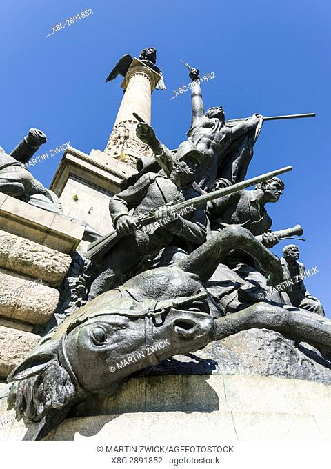 Monument Herois da Guerra Peninsular at Praca de Mousinho de Albuquerque. City Porto (Oporto) at Rio Douro in the north of Portugal