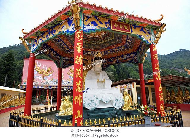 kwun yam goddess of mercy pavilion ten thousand buddhas monastery sha tin new territories hong kong hksar china asia