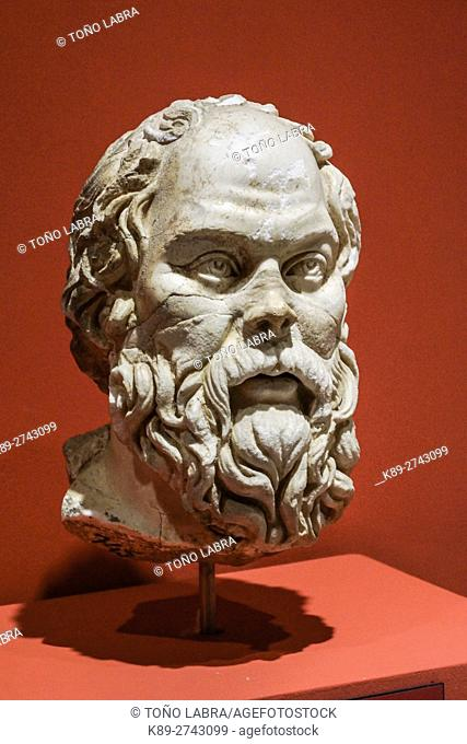Socrates (4th Century AD). Ephes Museum. Classic Greek Collection. Asia Minor. Turkey