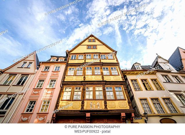 Germany, Rhineland-Palatinate, Mainz, Old town, half-timbered houses