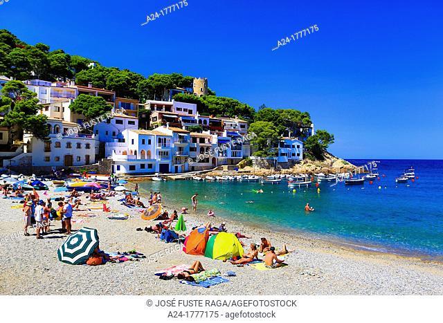 Spain , Catalonia ,Girona Province , Costa Brava Coast , Begur City , Sa Tuna Beach