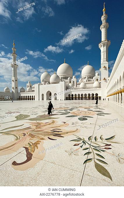 Courtyard of the Sheikh Zayed Grand Mosque; Abu Dhabi, United Arab Emirates