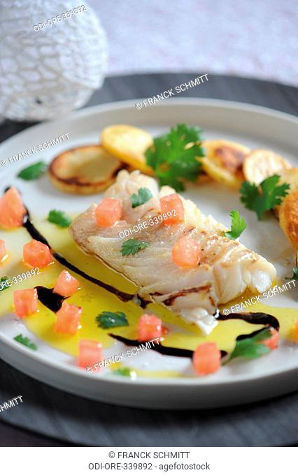 Cod with vegetables