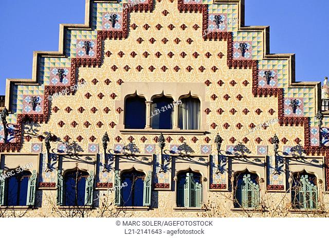 Casa Amatller Amatller House by Josep Puig i Cadafalch. Passeig de Gracia. Barcelona. Spain