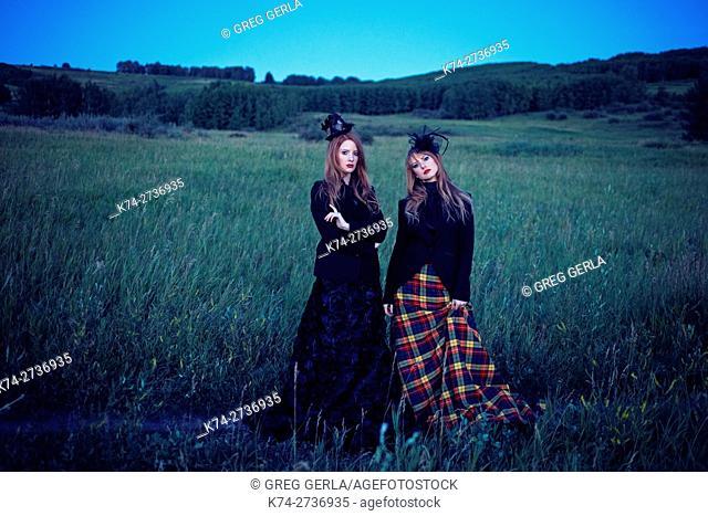 fashion image of young women