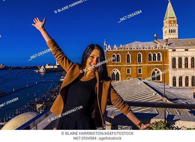 A Ukranian tourist in Venice, Italy