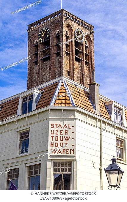 Tower of Barbara Church in Culemborg, the Netherlands, Europe