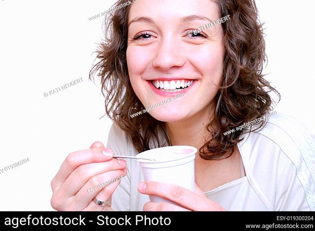 Joghurt essen