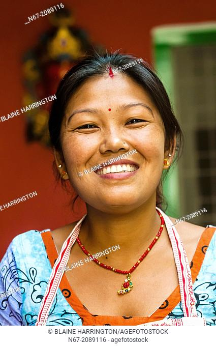 Nepalese woman, Cafe Mitra (restaurant and hotel), Kathmandu, Nepal