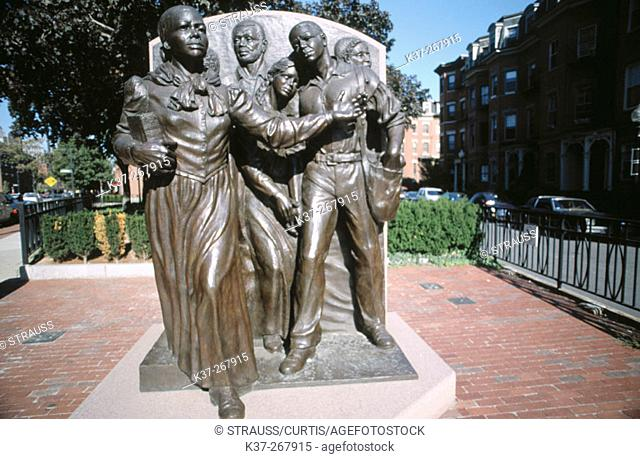 Civil Rights leader Harriet Tubman statue. South End. Boston. Massachusetts. USA