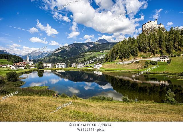 Switzerland, Tarasp castle, Engiadin