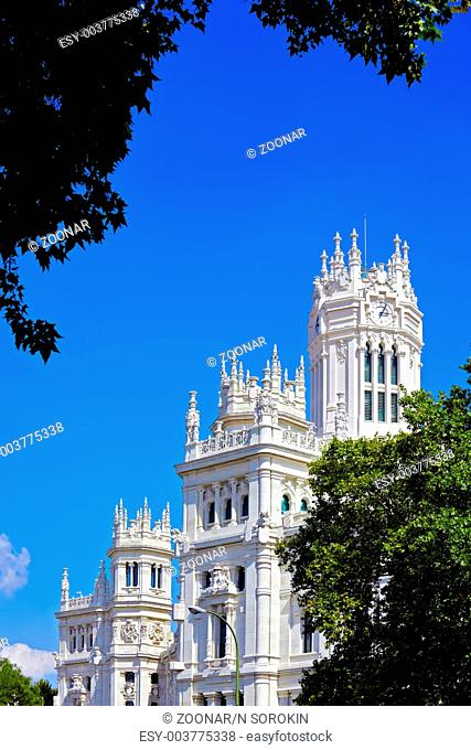 The palace in plaza Cibeles at Madrid, Spain