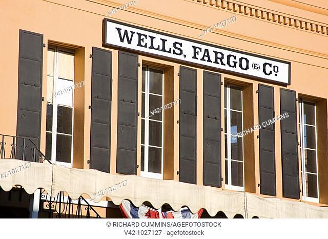 Wells Fargo History Museum in Old Town Sacramento, California, USA