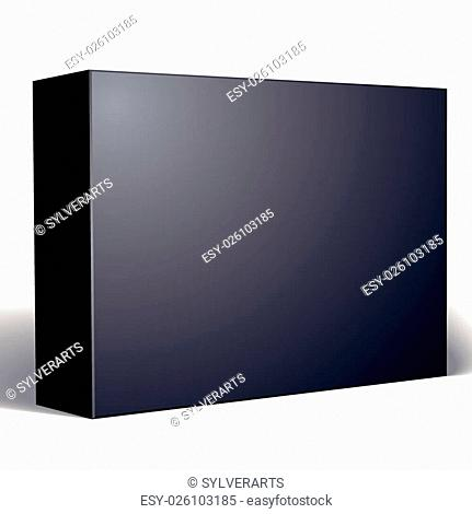 Package black box design isolated on white background, template for your package design, put your image over the box, vector illustration eps 8
