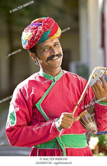 Rajasthani Musician, Jaipur, Rajasthan, India