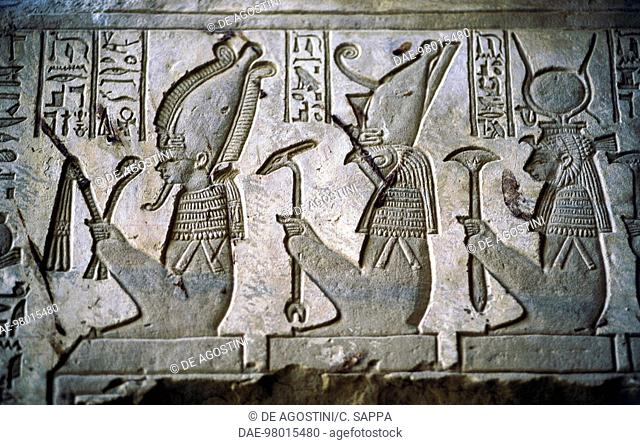 Isis horus bas relief Stock Photos and Images | age fotostock