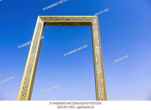 "The Dubai Frame, which was finished in January 2018, is an architectural landmark in Zabeel Park, Dubai. It has been described The Guardian newspaper as """"the..."