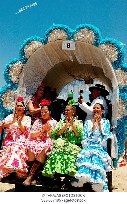 'Romería' (pilgrimage) to El Rocío. Huelva province, Spain It seem happiest day of the life