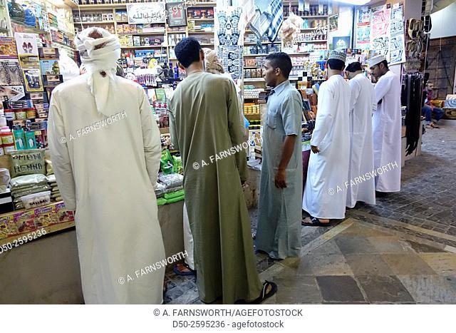 MUSCAT, OMAN men in souk