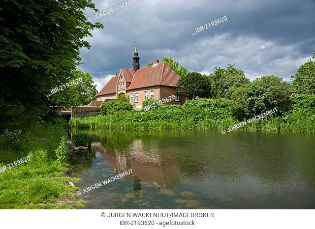 Gatehouse, Brodau manor, Brodau, Schleswig-Holstein, Germany, Europe