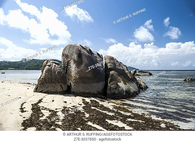 Rock formations. Anse Boileau Beach, Mahé. Mahé is the largest island of Seychelles, an archipelago off the East Coast of Africa