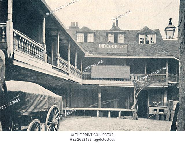 'The Tabard Inn, Southwark', c1873, (1903). From Social England, Volume III, edited by H.D. Traill, D.C.L. and J. S. Mann, M.A