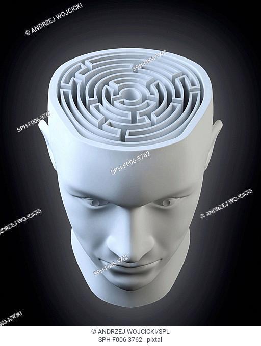 Intelligence, conceptual computer artwork