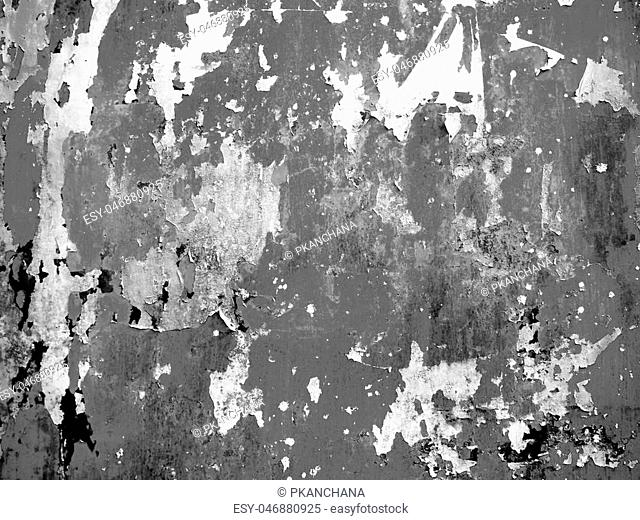 rusty metal surface with cracking texture and background, black and white color