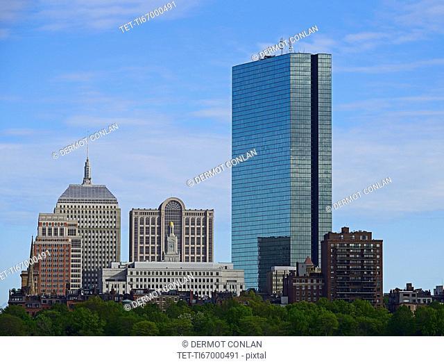 Massachusetts, Boston, Skyscrapers at Copley Square