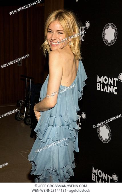 24th Anniversary Year Of Montblanc De La Culture Arts Patronage Awards at Kappo Masa - Arrivals Featuring: Sienna Miller Where: New York, New York