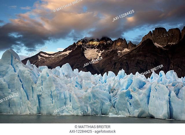 Terminus of Grey Glacier, Torres del Paine National Park; Magallanes region, Chile