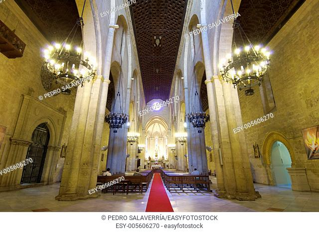 interior view of the real church of San Pablo, Cordoba, Andalucia, Spain