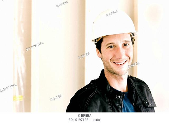 portrait of architect on construction site